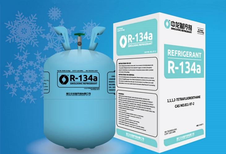 gas R134A trên tủ đông Alaska