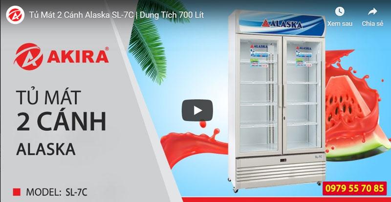 tủ mát trưng bày alaska sl-7c